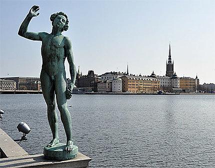 Statue de stadhuset (hôtel de ville)