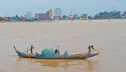 Le Tonlé Sap à Phnom Penh