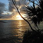 Lever de soleil à Sainte Rose
