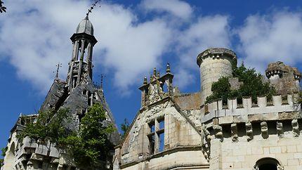 Balcon de l'escalier du château