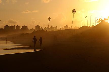 Coucher de soleil à Salvador de Bahia