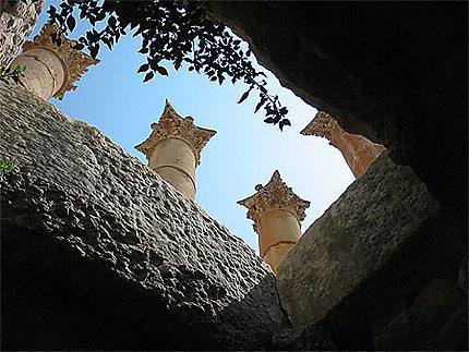 Colonne qui bouge à Jerash