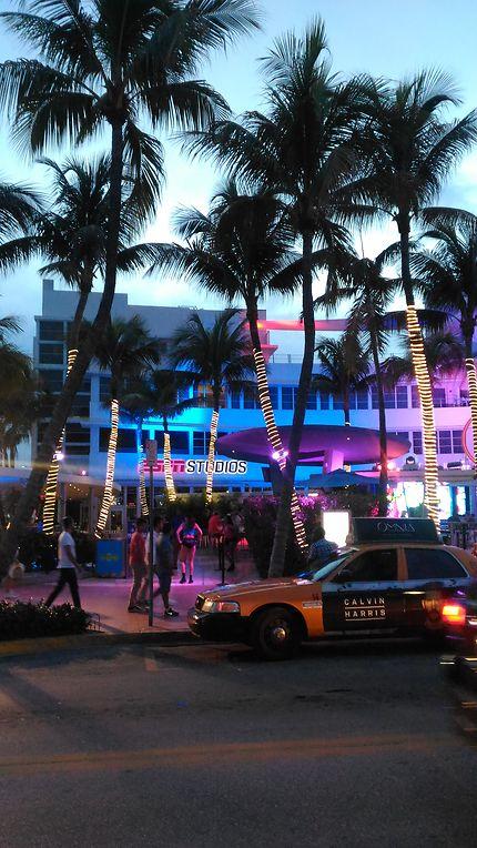 Art Deco District sur Ocean Drive, Miami