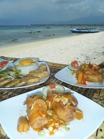 Déjeuner à Gili Meno, Indonésie