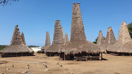 Sumba - village traditionnel