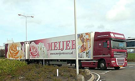 Le marché aux fleurs d'Aalsmeer - les camions sont souvent décorés (bien sûr) avec des fleurs !