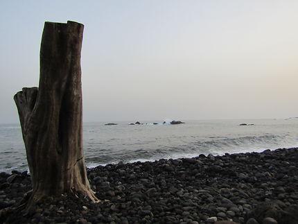 Bord de mer sur l'Île de Santiago, au Cap-Vert