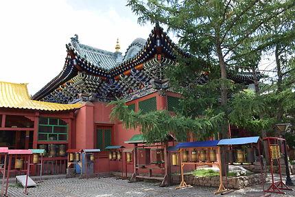 Moulins à prière en Mongolie