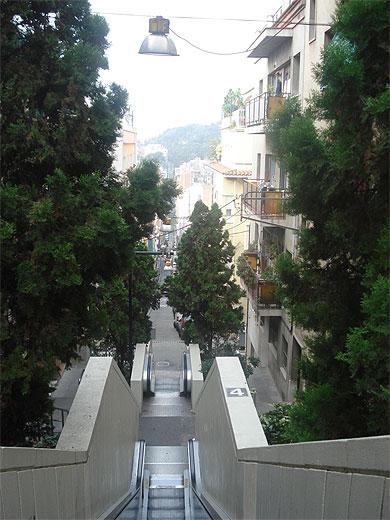 Escalator pour le Parc Guell