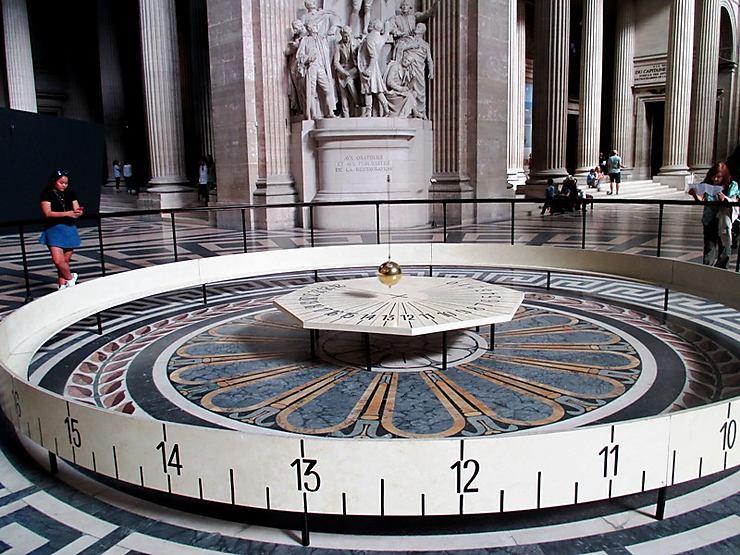 Le pendule de Foucault au Panthéon, Paris