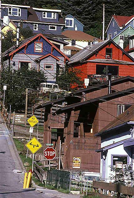 Juneau étagement des maisons