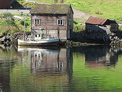 Paysage sur le Naeroyfjorden