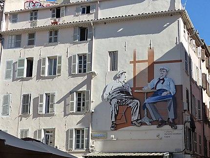 Street art Marius