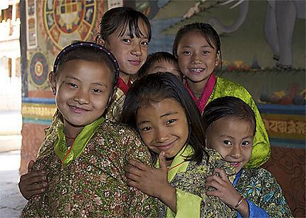 Enfants Punakha, Bhoutan