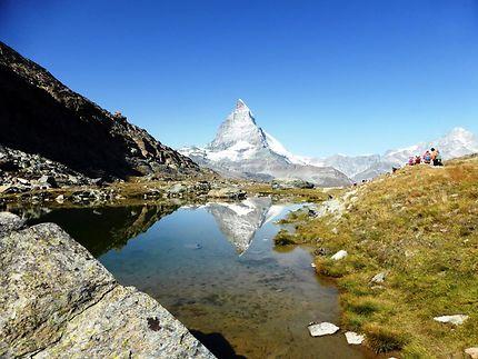 Région de Zermatt, doule vue sur le Cervin