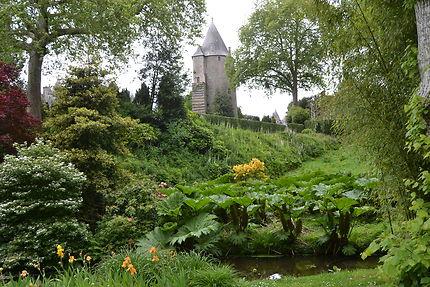 Le parc et le château de Josselin