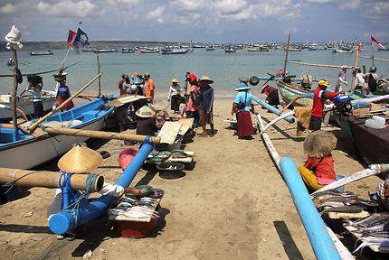 Le marché aux poissons de Jimbaran