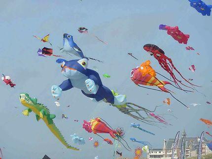 Concours annuel de cerfs volants à Berck-sur-Mer