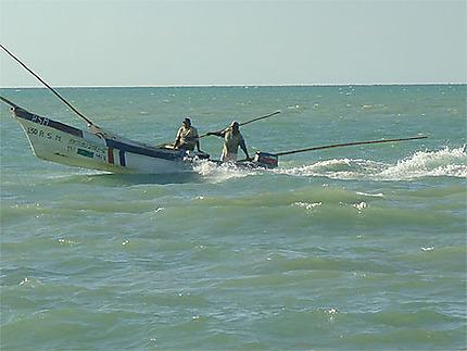 Bateau de pêche à Celestun