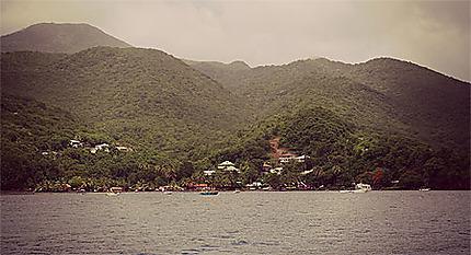 Paysage de la Basse-Terre en Guadeloupe