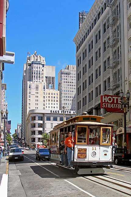 Un cable-car vers Union Square