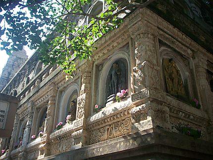 Détail du temple Mahabodhi