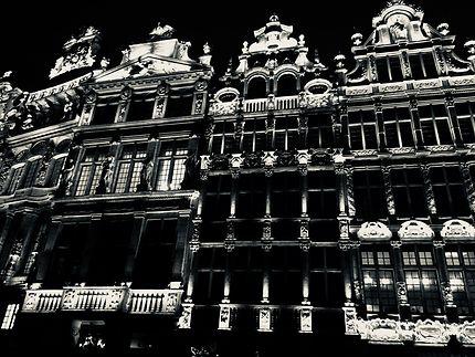 Grand place de Bruxelles avec éclairages de Noël