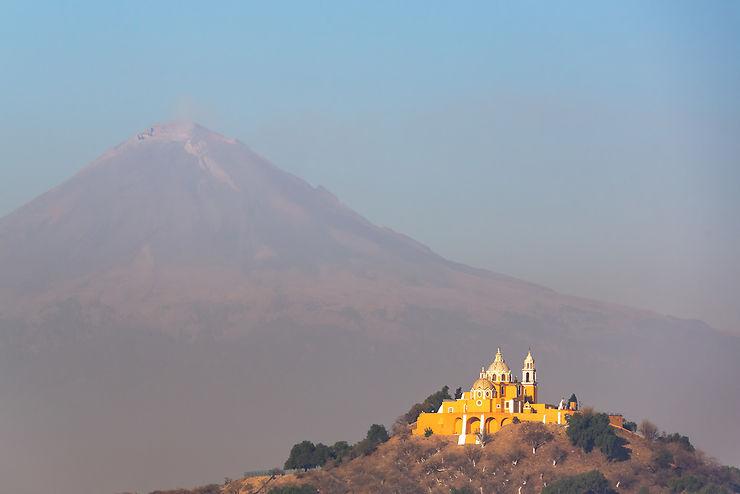 Puebla et le Popocatépetl