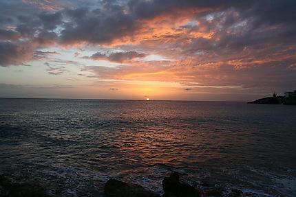 One of many beautiful sunsets of Maho Beach