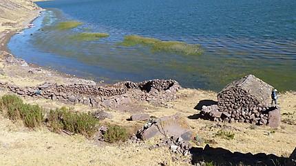 Habitants au bord du lac Umayo