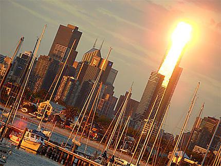 Coucher de soleil sur Melbourne