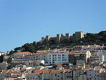 Aperçu d'ensemble du Castelo Sao Jorge