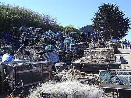 Filets de pêche à Chausey