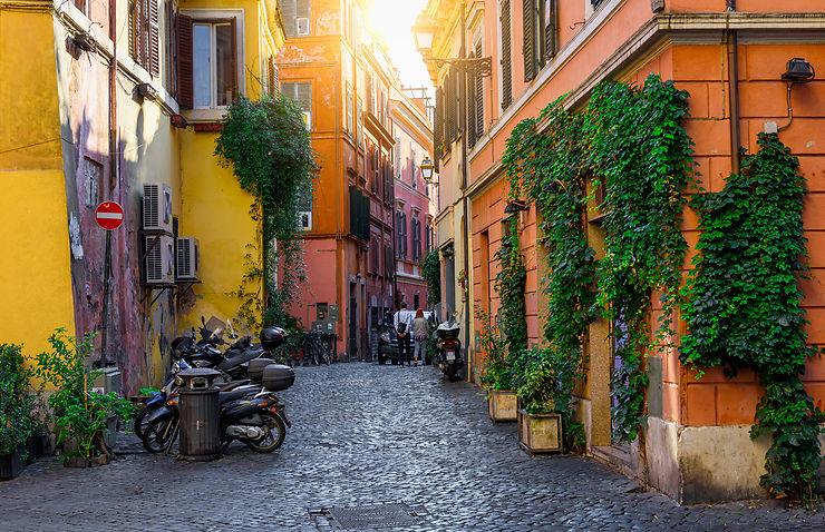 Flâner dans le Trastevere et monter au Janicule