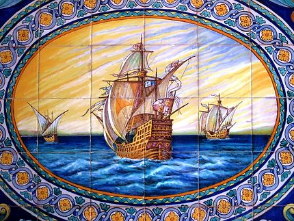 Azuli dans un immeuble de Triana, à Séville