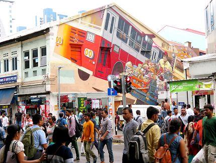 Fresque et scène de rue