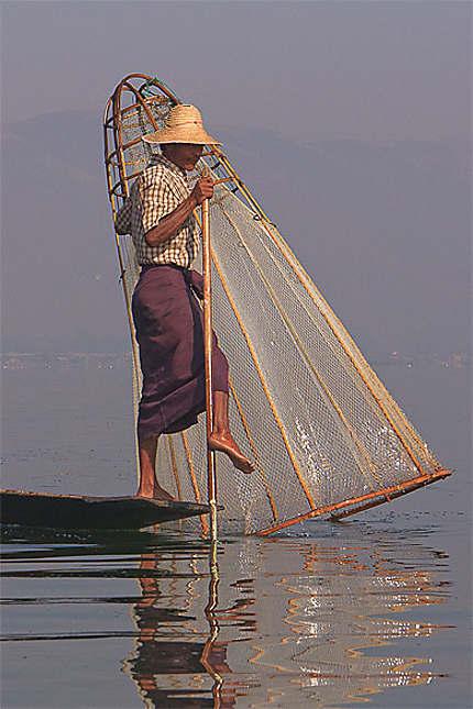 Technique de pêche à Inle