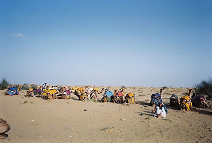 Départ pour le désert