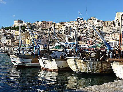 Ville de Sciacca vue du port