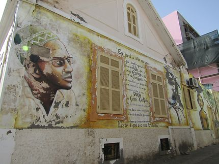 Fresque d'Amilcar Cabral