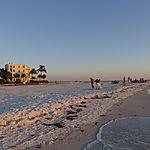 Plage de Siesta Key au soleil couchant