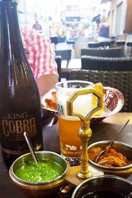 Repas indien à Mumbai