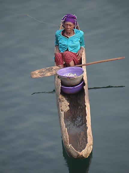 Sur le lac Kivu