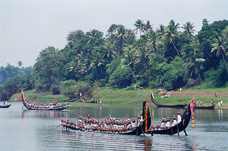 Kerala - Nehru Trophy Boat Race : les backwaters en fête