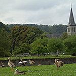 Barrage et église ste Anne à Anseremme