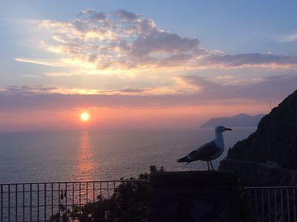 Coucher de soleil à Riomaggiore