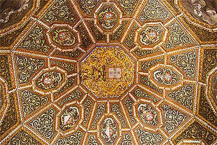 Sintra - Palais national de Sintra - Salle des blasons - Détail plafond