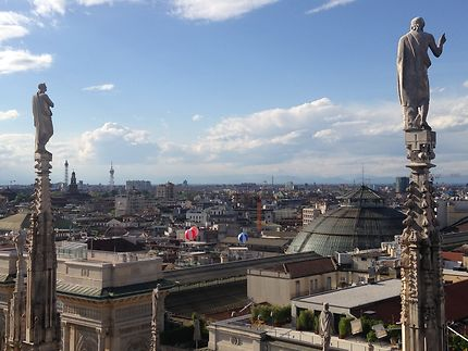 Sur les toits du duomo di Milano