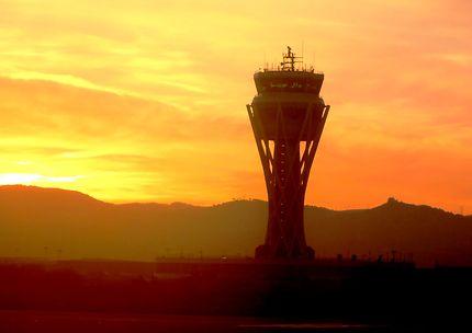 Tour de contrôle de l'aéroport de Barcelone