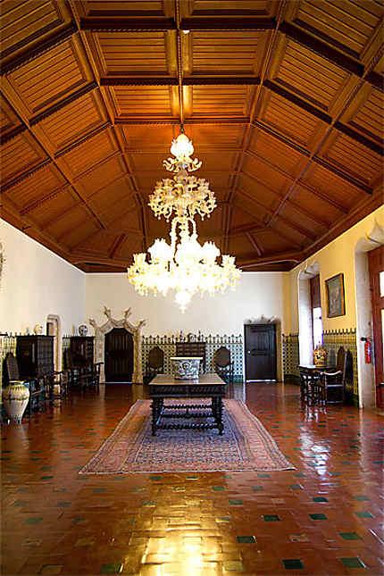 Sintra - Palais national de Sintra - Salle à manger et son plafond à caissons